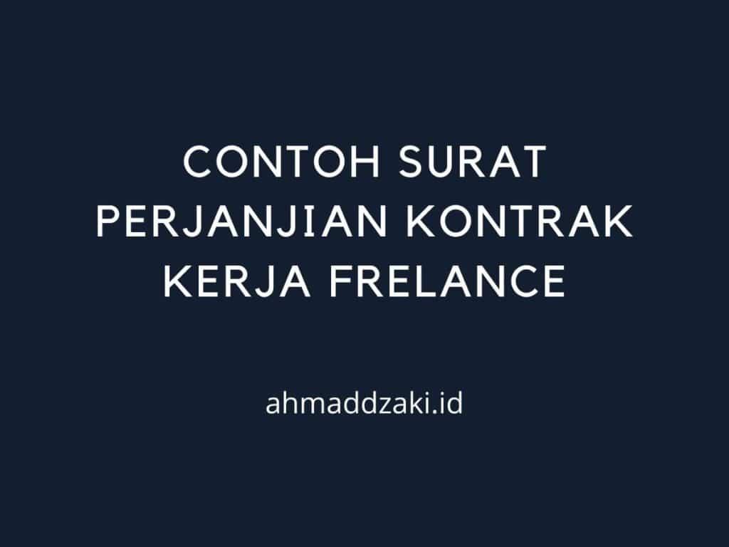 contoh surat perjanjian kerja freelance