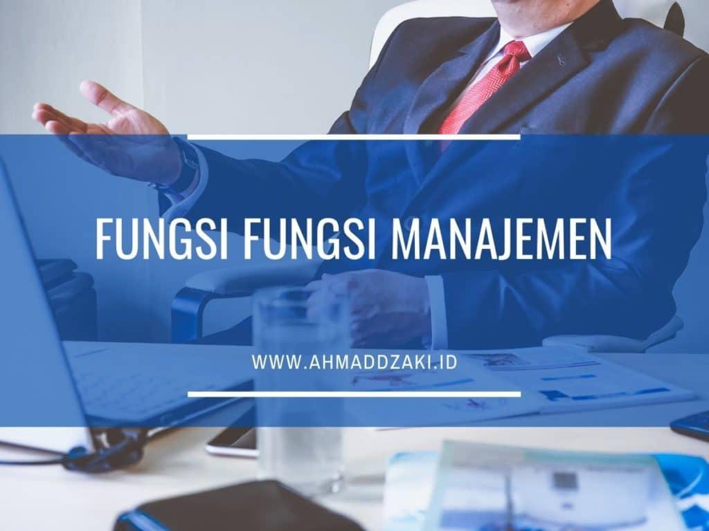fungsi manajemen