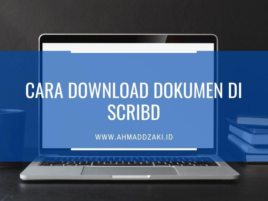 cara download dokumen di scribd