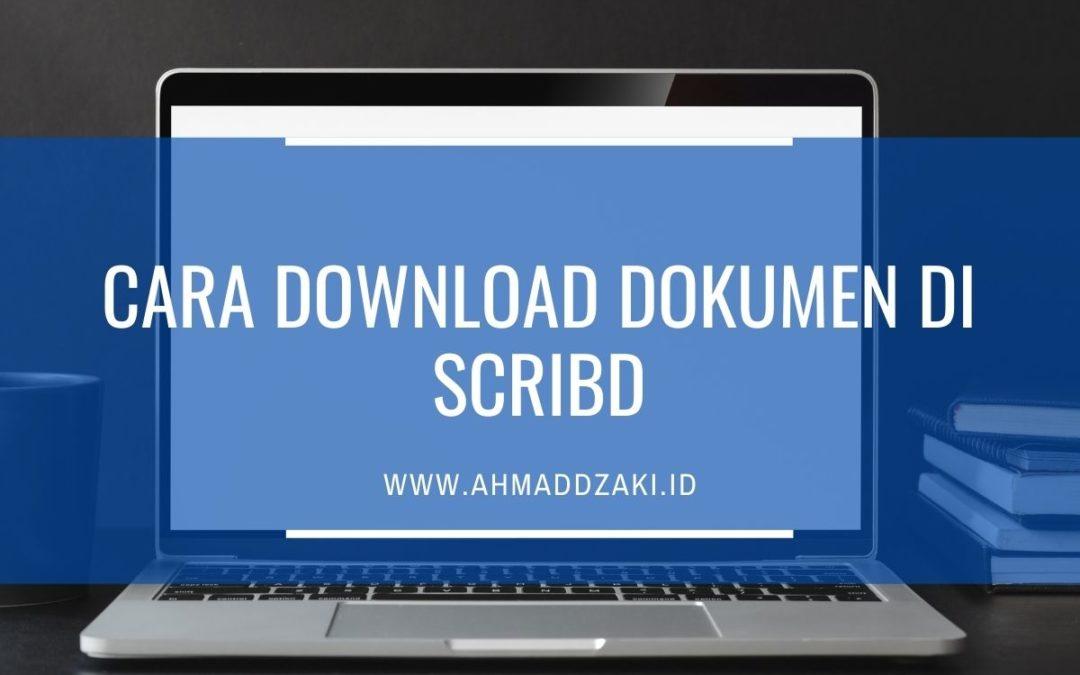 Cara Mendownload Dokumen di Scribd Gratis di 5 Situs Ini