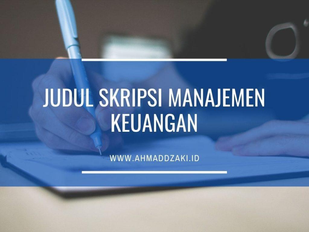 Contoh skripsi manajemen konsentrasi keuangan